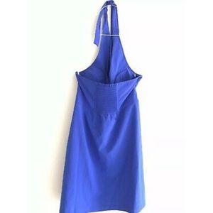 Athleta Dresses - Athleta Go Anywhere Blue Halter Dress Petite 10P